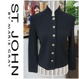 St John sz 2 Black Blazer coat